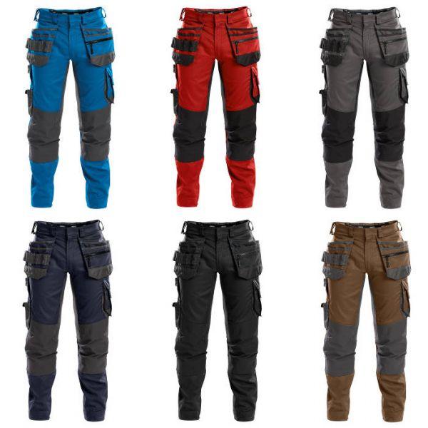 D-Flex DASSY® FLUX Multitaschen Bundhose Stretch Kniepolstertaschen