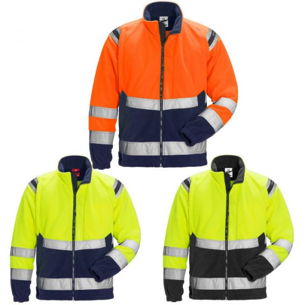 High Vis Fleecejacke Kl. 3 4041 FE Warnschutz EN 20471