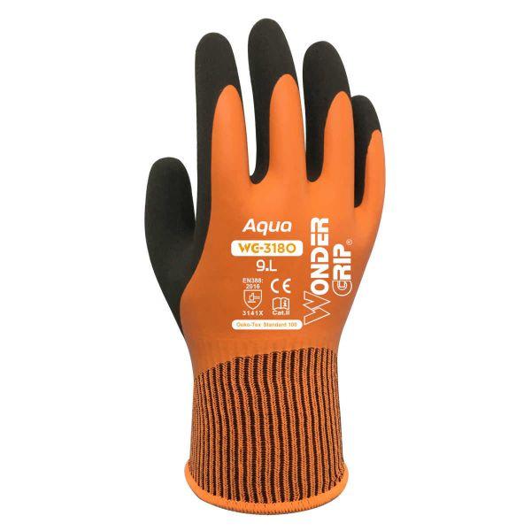 Wonder Grip Aqua Orange Handschuhe wasserdicht